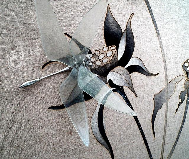 2014年臺灣工藝競賽「傳統工藝組」入選作品:點水蜻蜓