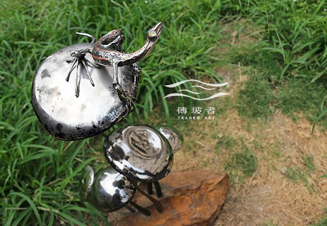 (蜥蜴&菌菇)2017年臺灣工藝競賽「美術工藝組」入選作品:菇芳共賞生態六件組
