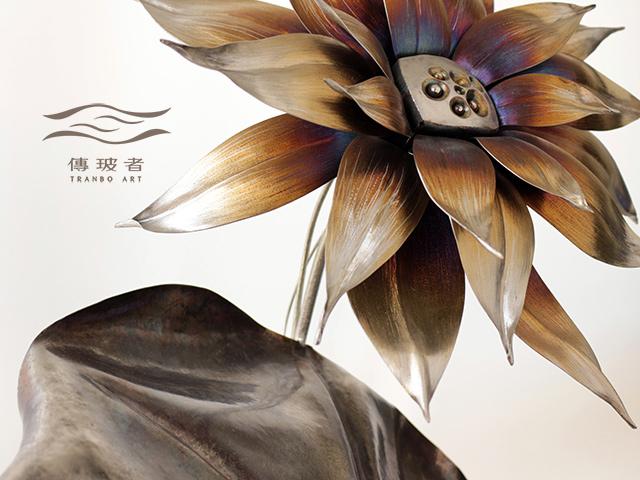 (荷花特寫)2018年臺灣工藝競賽「美術工藝組」佳作作品:夏宴