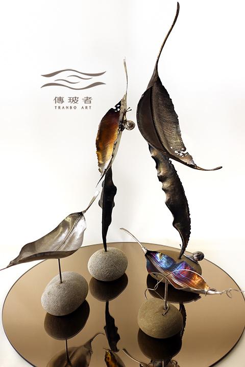 2019年臺灣工藝競賽入選作品「動靜之間」鋼葉與蝸牛
