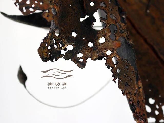 (銅葉與金龜-葉的特寫)2019年臺灣工藝競賽入選作品「動靜之間」銅葉與金龜