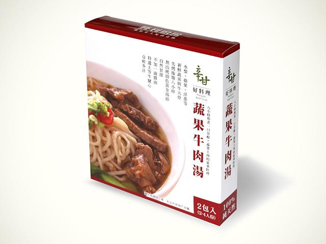 辛甘好料理-蔬果牛肉湯-2包入裝不含麵