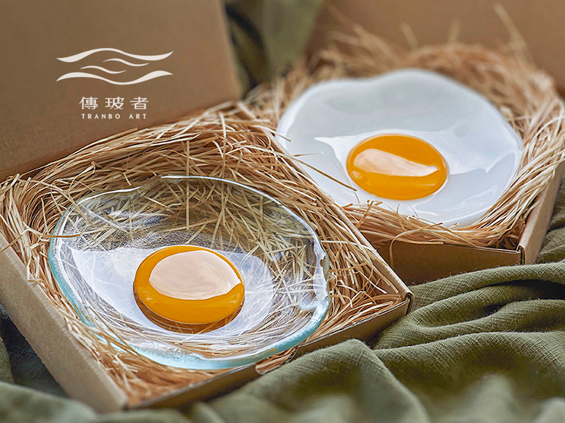 蛋蛋的幸福-荷包蛋琉璃碟-蘸料碟-Pinkoi