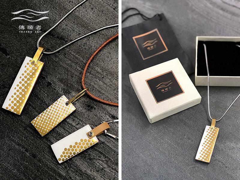 傳玻者-金箔琺瑯項鍊-在Pinkoi展售