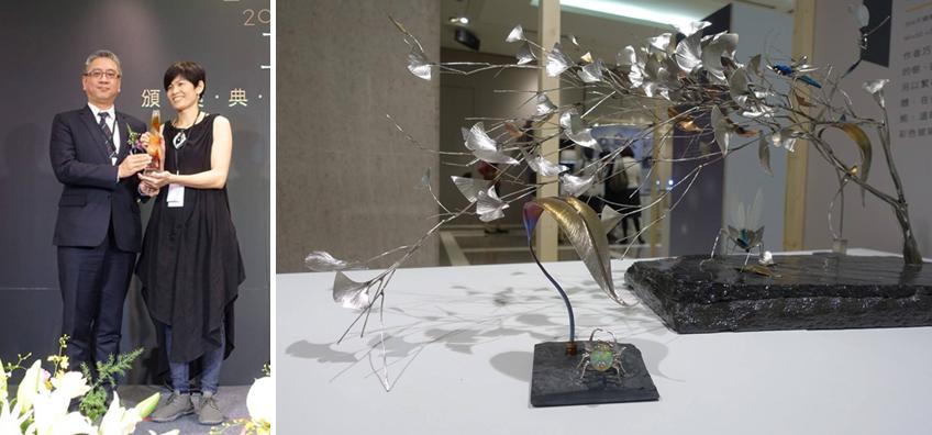 新光三越特別獎-鐵樹銀杏之動與靜-昆蟲三件組